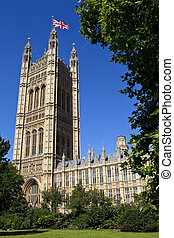 The Victoria Tower of the Houses of Parliament