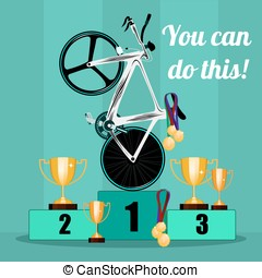 The victory in cycling