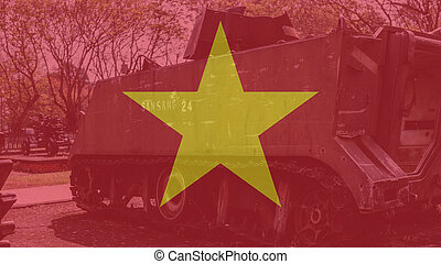 The Vietnamese military museum with an exhibition of...