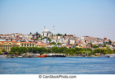 The view across Golden Horn, Istanbul