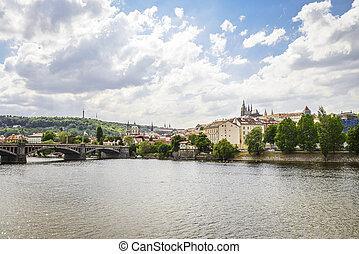 River Vltava at spring