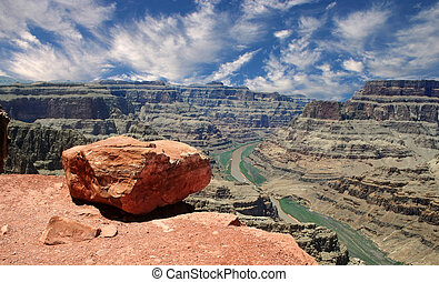 Grand Canyon West Rim - The view from Guano Point on the...