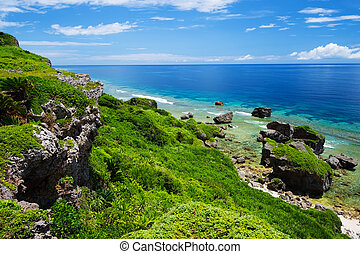 The View from HIGASHI HENNA Cape, Okinawa Prefecture/Japan, ...