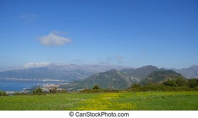 The view from the mountains in Montenegro from Fort Gorazde. Kot