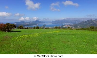 The view from the mountains in Montenegro from Fort Gorazde....