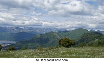 The view from the mountains in Montenegro from Fort Gorazde.