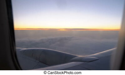 The view from the Window of a Passenger Pane Flying in the ...