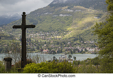 The view of Annecy lake