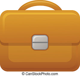 The view of briefcase