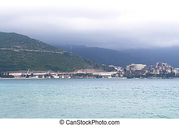 The view of budva old town