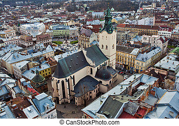 catholic cathedral in Ukraine - The view of catholic...
