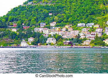 The view of Como lake, Bellagio, Italy.