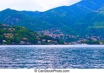 The view of Como lake, Bellagio, Italy.