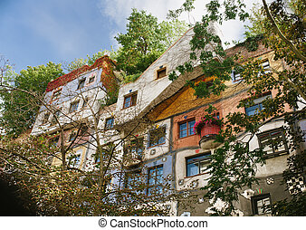 The view of Hundertwasser house