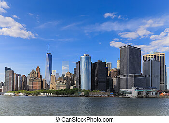 The view of Manhattan from the boat - It's a view of ...