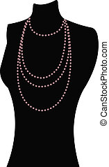 The view of mannequin - The view of necklace on the...