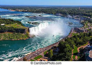 Niagara Falls - The view of the Horseshoe Fall, Niagara...