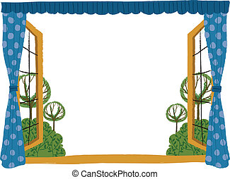 The view of window