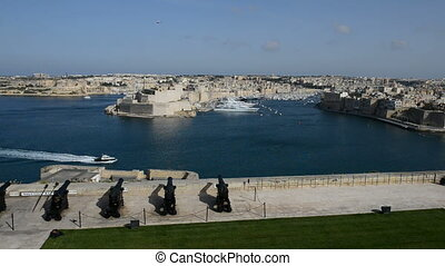 The view on Birgu and yacht marina, Birgu, Malta