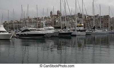 The view on Birgu and  yacht marina