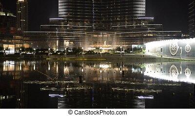 The view on Burj Khalifa and man-made lake