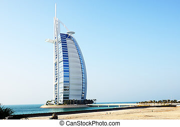 The view on hotel Burj Al Arab - The view on world's first ...