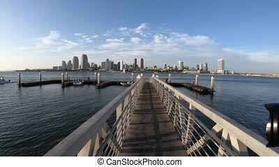 San Diego Bay - The view on San Diego Downtown skyline from...