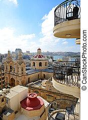 The view on Sliema and Valleta, Malta
