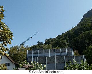 The view on the mountains in Liechtenstein