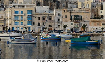 The view on traditional Malta boats