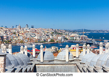 The view over Bosphorus strait, Istanbul, Turkey