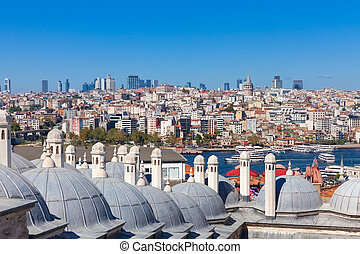 The view over  Istanbul, Turkey