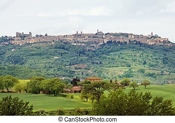 The view to the town of Pienza - Tuscany