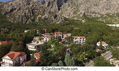 The villa in the mountains near the sea. Montenegro, Bay of Koto