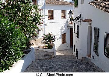 Altea - The village Altea on the Costa Blanca, Alicante...