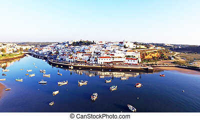 The village Ferragudo in the Algarve Portugal