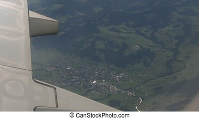 The Village From Airplane Window - European village view...