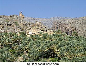 The village Misfat, sultanate Oman
