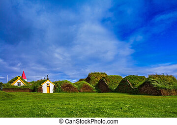 The village of ancestors in Iceland - The recreated village...