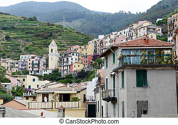 The village of Manarola on Cinque Terre