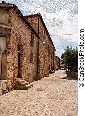 The village of Monteriggioni, Siena, Italy.