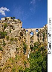 The village of Ronda in Andalusia, Spain. - Bridge of Ronda...