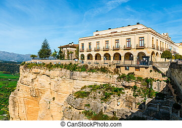 The village of Ronda in Andalusia, Spain. View from the bridge