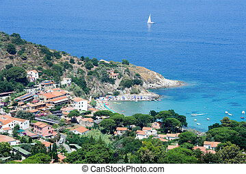 The village of San Andrea Elba island, Italy