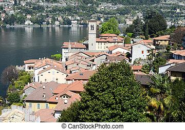 The village of Torno on lake Como