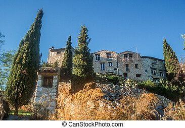 The village of Tourettes-sur-Loup, Cote Azur, France