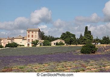 The village of Villars in Provence