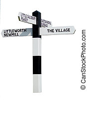 The Village Sign - Sign post for The Village in rural ...