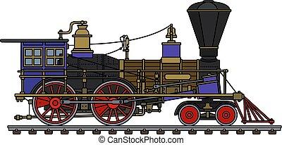 The vintage american steam locomotive