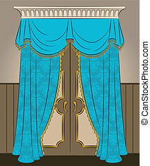 The vintage curtain.